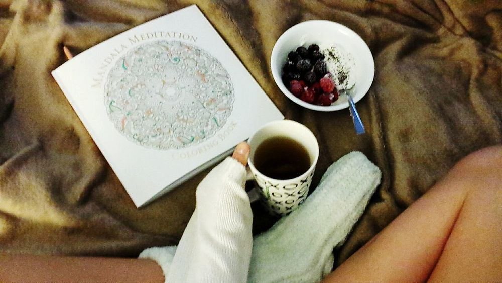 Good Morning. ♡ Mandelas Berries Breakfast Colo4ing Morning Serenity Comfy  White Love