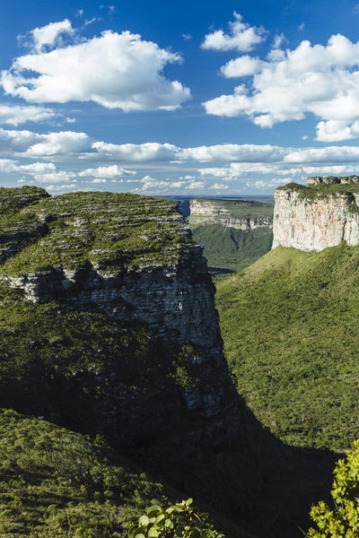 view of the Chapada Diamantina mountains from the Pai Inácio Hill Chapada Diamantina Mountain View Cliff Cloud - Sky Landscape Mountain Mountain Peak Mountains And Sky No People Outdoors Scenics Sky Travel Destinations Lost In The Landscape
