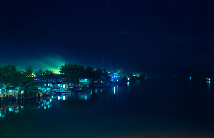 You are never alone. Beauty In Nature Blue Night Bolton River Dark Davao City Davao City, Philippines Nature Night Nightlife Philippines River River In Davao Silent Night Sky Squatter Area Water
