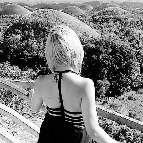 Rear View Blondehair Only Women Human Back One Person One Woman Only People Day Back Adult Adults Only Outdoors Young Adult Mountain Tree Young Women Nature Chocolatehills EyeEmNewHere Done That. Lost In The Landscape