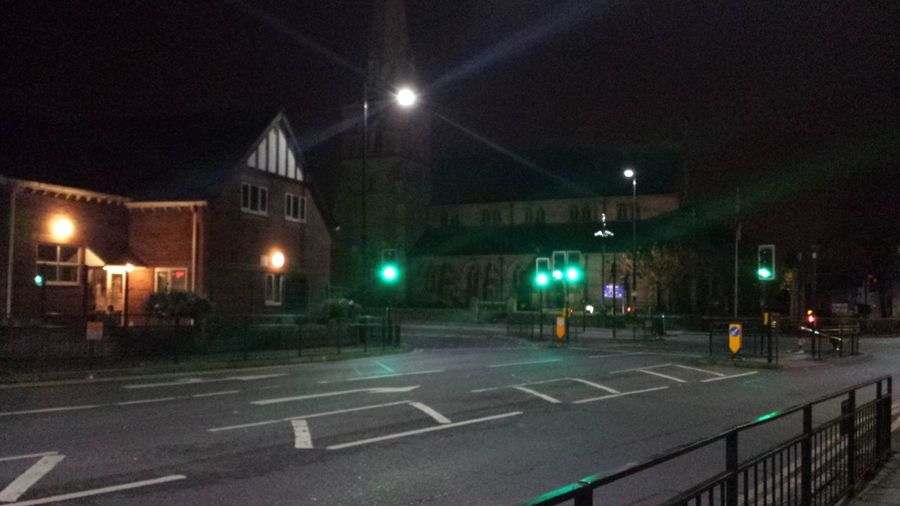 Hindley Centre at Night, 10 minute walk from my home.. Hindley Night Church