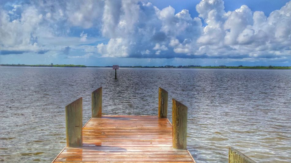 At The Boat Ramp Peaceful Moments Clouds And Sky Indian River Lagoon Wabasso, Florida