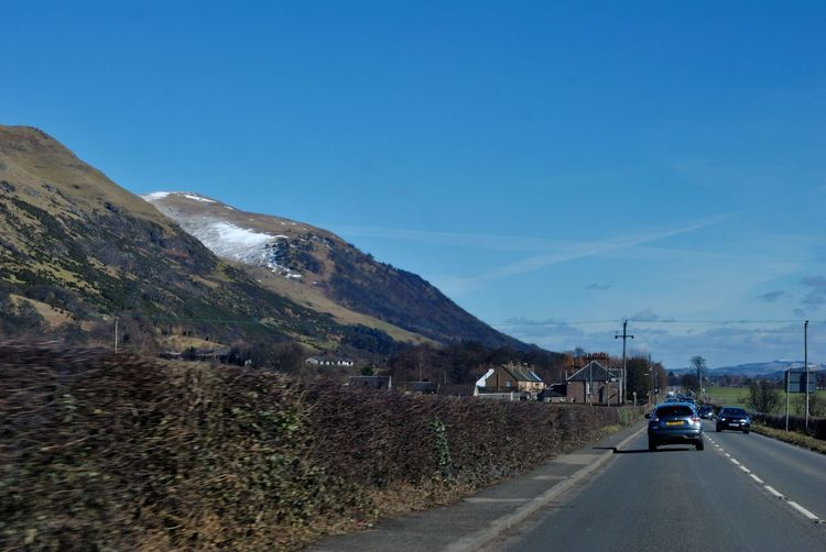 Driving Scotland Car Day Land Vehicle Mode Of Transport Mountain Nature No People Ochil Hills Outdoors Road Sky The Way Forward Transportation