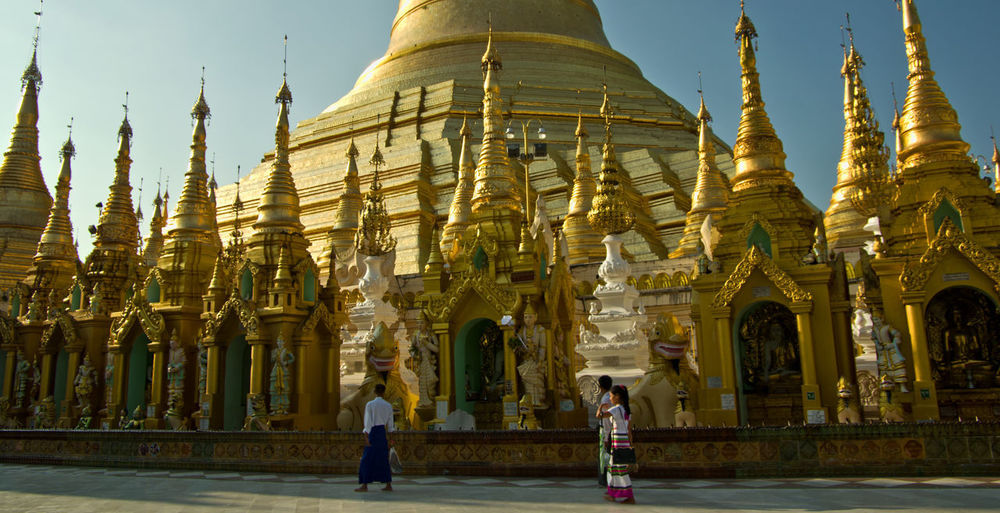 Shrine Stupas World Heritage Yangon, Myanmar Architecture Buddhism Buddhist Temple Building Exterior Built Structure Burma Day Gold Gold Colored Outdoors Place Of Worship Religion Spirituality Travel Destinations