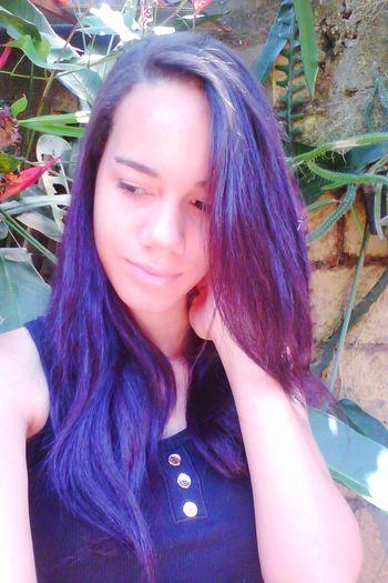 Self Portrait Portrait Selfie ✌ Hello World Photo Girl Hairpurple Photography Colors
