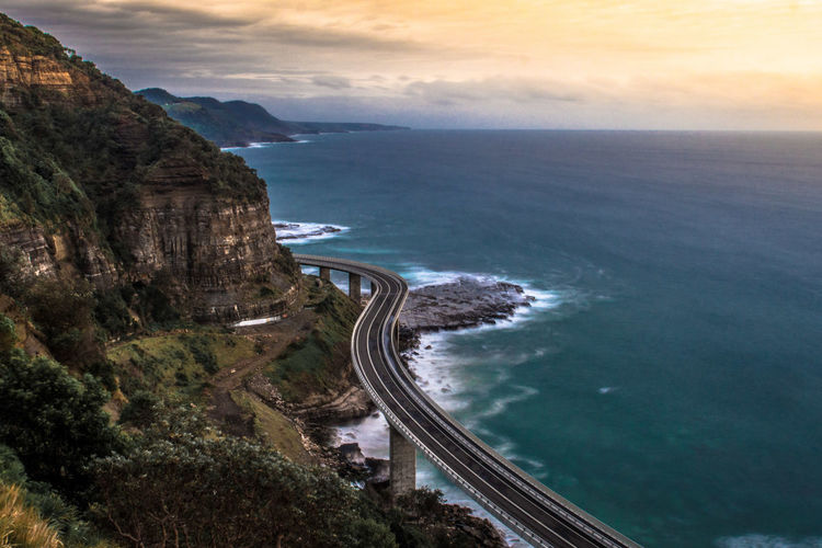 Early morning in Seacliff Bridge in New South Wales, Australia Australia EyeEmNewHere New South Wales  Beauty In Nature High Angle View Horizon Over Water Nature No People Road Scenics - Nature Sea Seacliff Sky Tranquil Scene The Great Outdoors - 2018 EyeEm Awards The Traveler - 2018 EyeEm Awards Capture Tomorrow