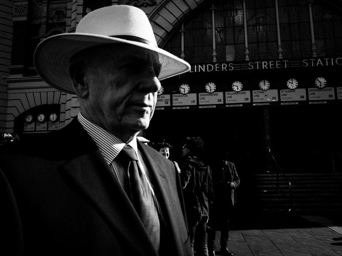 Streetphotography Streetphoto_bw Streets Of Melbourne Everyday Australia Procamera Adobelightroommobile Mobilephotography IPhoneography ShotoniPhone6s Shootermag_australia Shootermag MelbournePhotographer Blackandwhite Monochrome People Watching Melbourne Cup