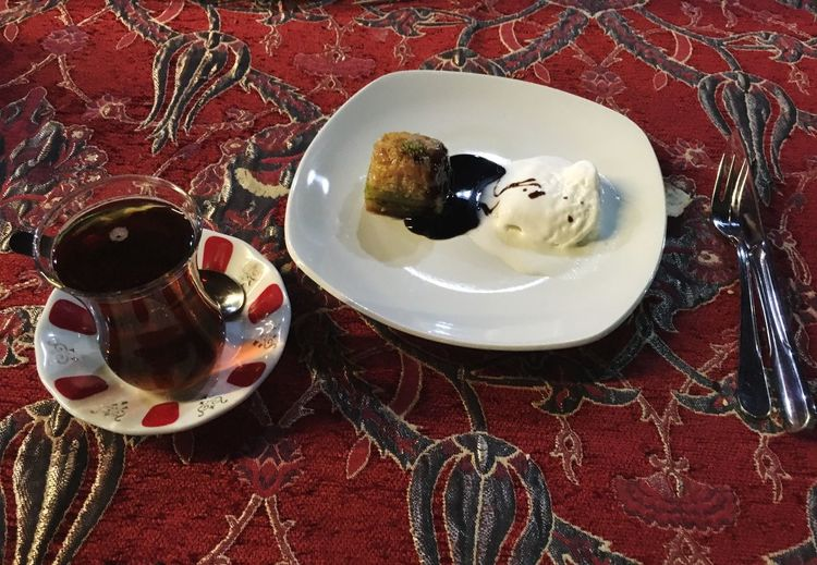 Food And Drink Tea Cups Tea Culture Table Drink Saucer Indoors  Refreshment High Angle View Tea Cup Plate Cup Coffee - Drink Coffee Food Freshness Hot Drink Ready-to-eat Beverage Indulgence Tea Turkish Tea Baklava Fresh On Eyeem
