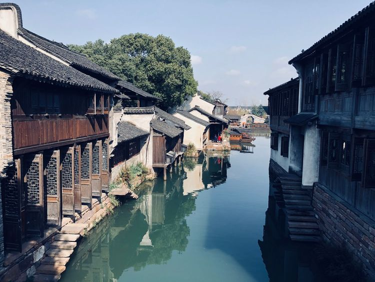 China Wuzhen View Lake China Nature Likeforlike Photooftheday EyeEm Selects Building Exterior Water Built Structure Architecture Reflection Sky Building City House Waterfront EyeEmNewHere