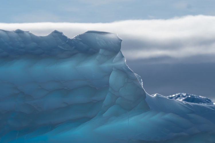 Ice sculptures Antarctica Antarctica Beauty In Nature Close-up Cloud - Sky Cold Temperature Day Frozen Glacier Ice Iceberg Nature No People Outdoors Scenics Sky Snow Tranquil Scene Tranquility Water Winter