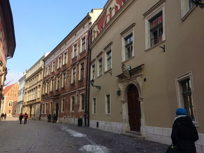City Life Building Exterior Architecture Built Structure Clear Sky Outdoors Men Day One Person Sky People Street City Europe Krakow Poland