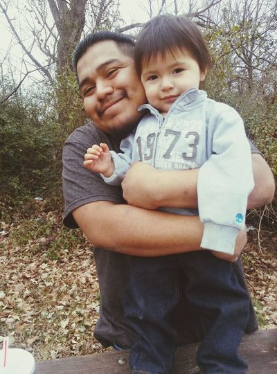Daddy And Son love the time the smile PRICELESS ❤