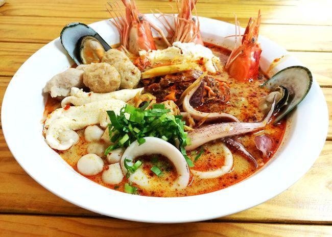 Spicy seafood (Tom Yum), Thai food. Tom Yum Spicy Food Spicy Seafood Thai Food Foodphotography