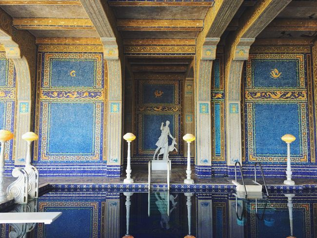 Hearst Castle Pool Elegant California Roadtrip Castle Statue Gorgeous Photography Snapseed IPhoneography
