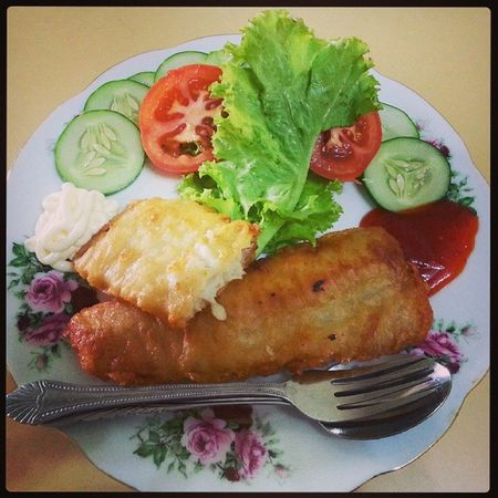 Lunch for mummy. Fishfillet