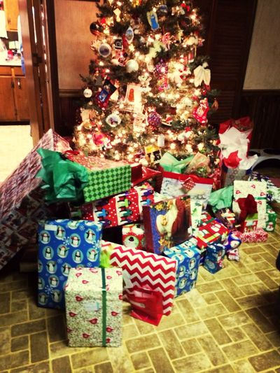 This tree is too small for all these presents Happy Holidays! Treeistoosmall HAHAHAHAHAHA