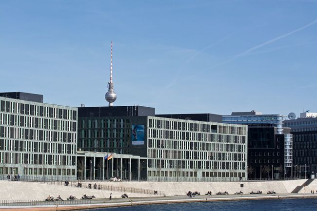 Architecture Blue Building Building Exterior Built Structure Capital Cities  City City View  Cityscape Cityscapes Clear Sky Communications Tower Construction EyeEm EyeEm Gallery Famous Place International Landmark Modern Sky Skyscraper Tall - High Tourism Tower Travel Capture Berlin Discover Berlin