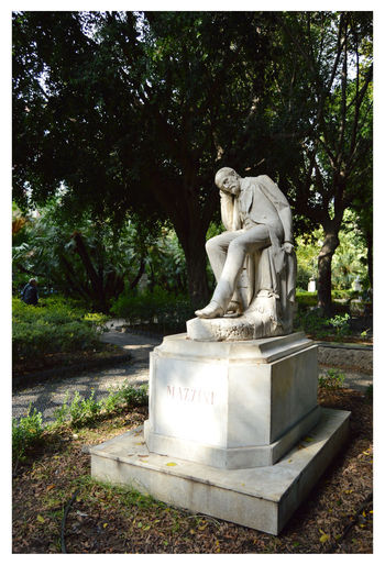 City Park Art And Craft Beauty In Nature Day Human Representation Male Likeness Mazzini Nature No People Outdoors Sculpture Statue Tree Villa Bellini