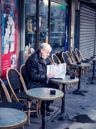Cafés parisiens One Person Only Men Senior Adult One Man Only People Men Outdoors Street I Love My City EyeEmBestPics Capture The Moment EyeEm Best Shots EyeEm Gallery Paris, France  Париж Outdoor Photography