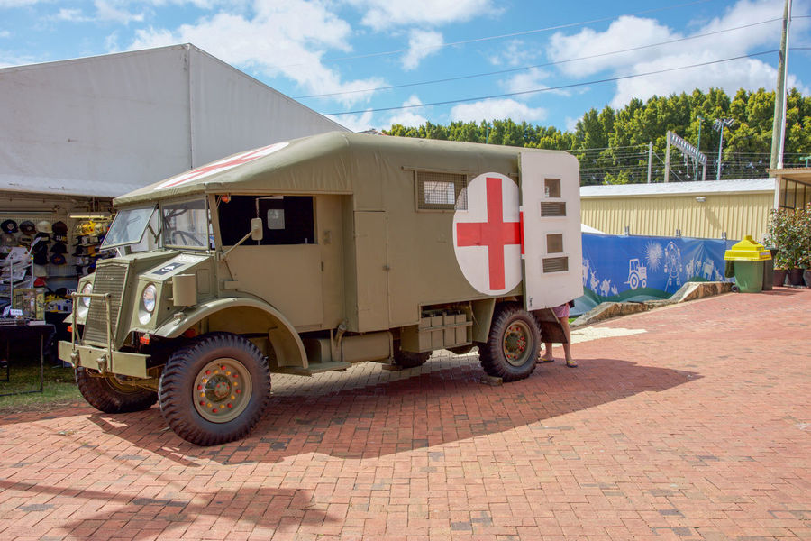 Medical military vehicle on display at the 2016 Perth Royal at the Claremont Showgrounds in Claremont, Western Australia All Terrain Army Green Claremont Display Event Land Vehicle Land Vehicles Large Medical Medical Evacuation Mev Military Mode Of Transport Outdoors Perth Australia Perth Royal Show 201 Plus Sign Royal Show Show Sky Symbol Transportation Truck Utility Vehicle
