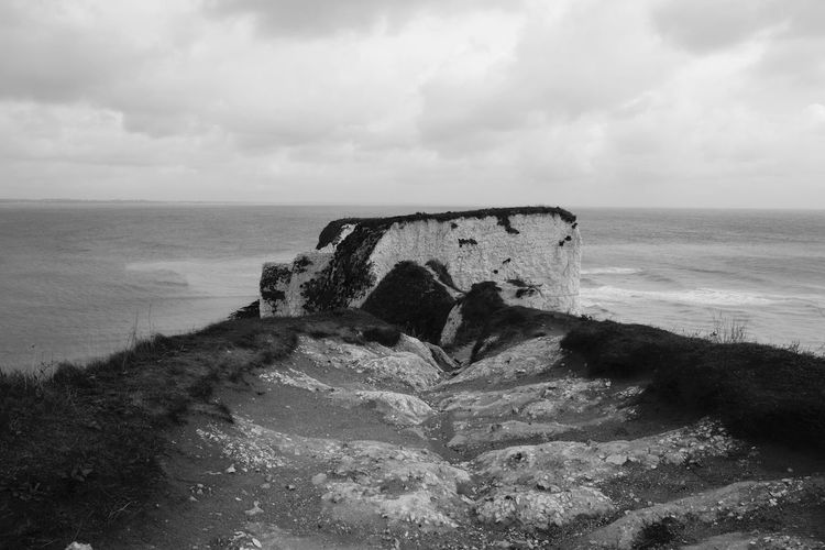 Old Harry Rocks Black & White Dorset Stack Beauty In Nature Black And White Cliff Cloud - Sky Day Horizon Horizon Over Water Isle Of Purbeck Jurassic Coast Land Nature No People Old Harry Rocks Outdoors Purbeck Rock Scenics - Nature Sea Sky Travel Destinations Water