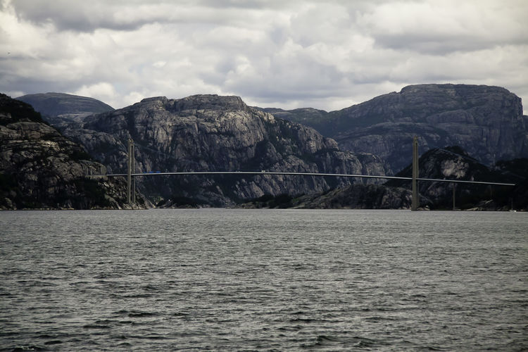 Nordic Countries Noruega Norway Beauty In Nature Bridge Landscape Mountain Nature No People Nordic Scenics - Nature Sea Sky Water
