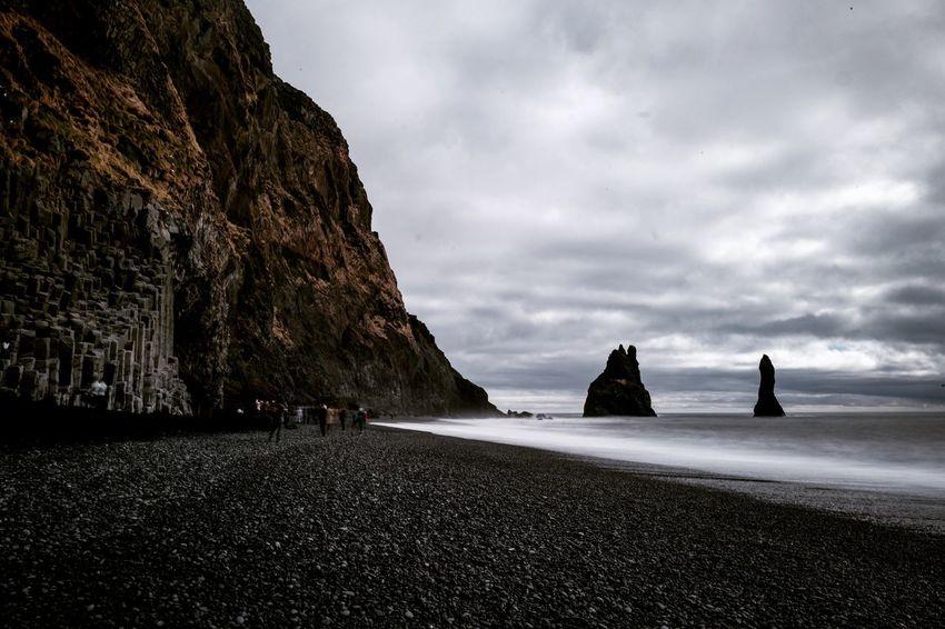 Black Beach in Vik, Iceland Iceland Nature Travel Beach Blackbeach Landscape Outdoors Scenics Sea Sky Travel Destinations Go Higher