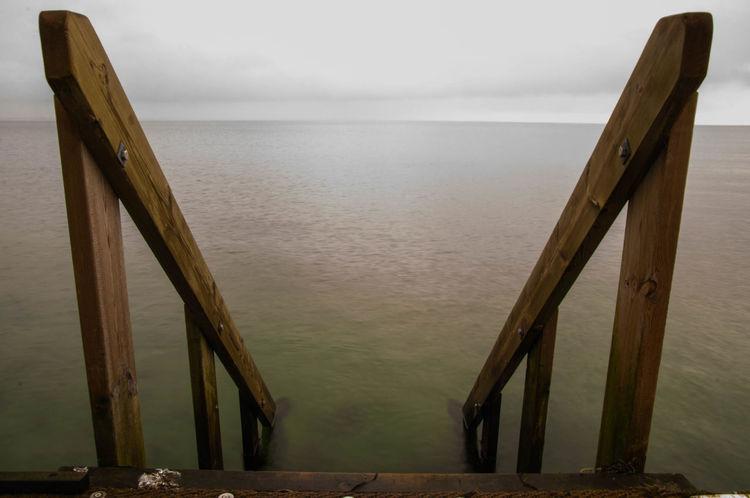 Baltic Sea Winter Calm Denmark Morning Sky Sea Stairs Water Winter
