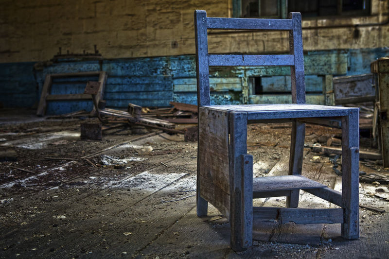 The Chair Abandoned Bad Condition Chair Close-up Damaged Day No People Outdoors Wood - Material