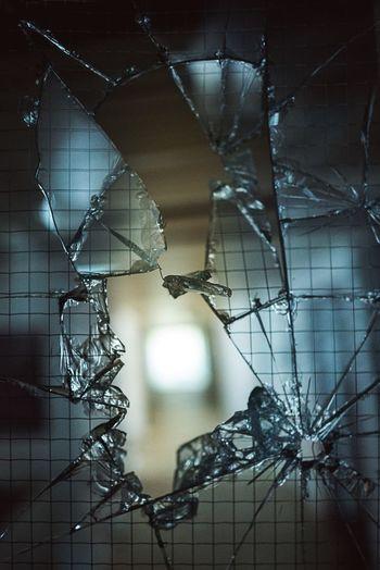 Glas gebrochen