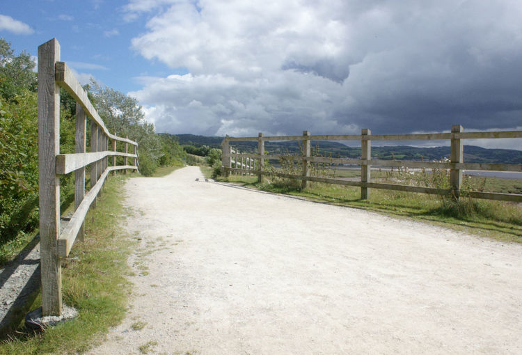 Water Sky Railing The Way Forward Sea Tranquil Scene Cloud Footpath Walkway Tranquility Travel Destinations Scenics Day Cloud - Sky Long Outdoors Solitude Nature Narrow North Wales Coast North Wales Wales