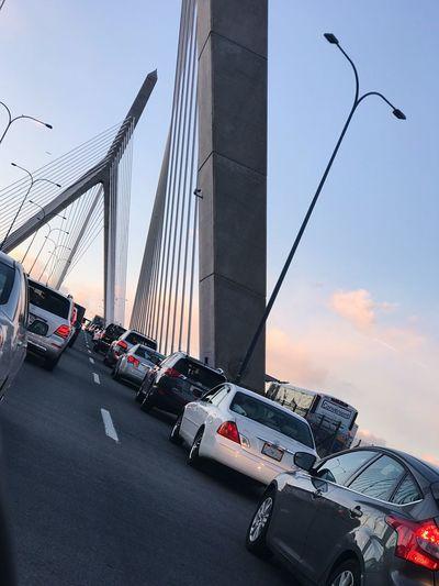 Beautiful flow of traffic Bridge Traveling