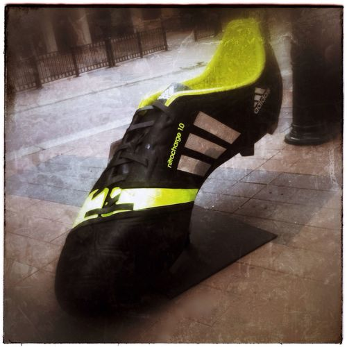Big running shoe. IPhoneography Photography Found Object Street Scene