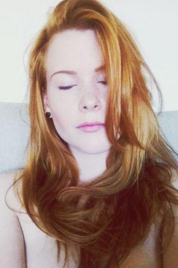 Good Hair Day Selfie Redhead Enjoying Life