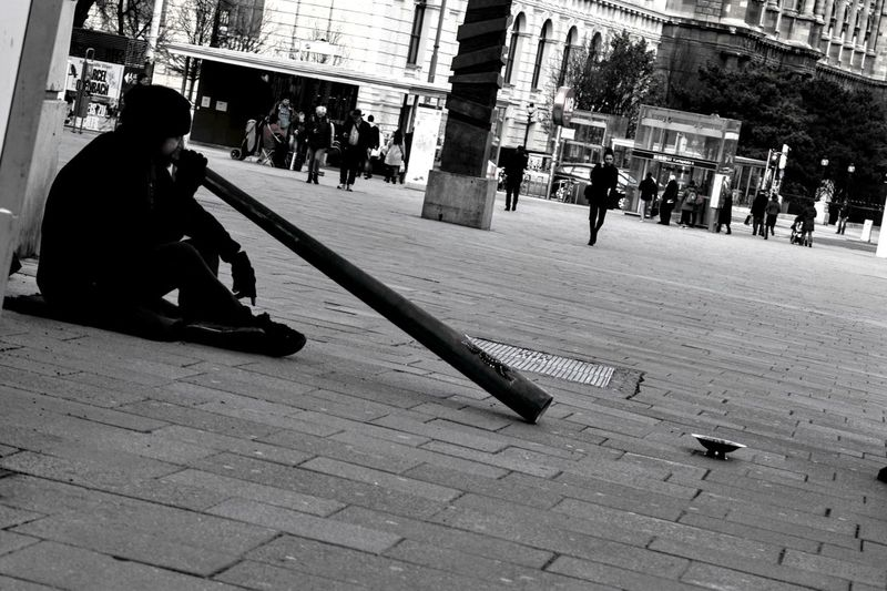 Men Outdoors Day Only Men One Person Vienna, Austria EyeEmNewHere City Streetphotography Arts Culture And Entertainment Begginer Photography Black&white Real PeopleMusician Instrument Tranceculture Trance Shadow Brunomphotography Inspirational Pic Europe Photo People