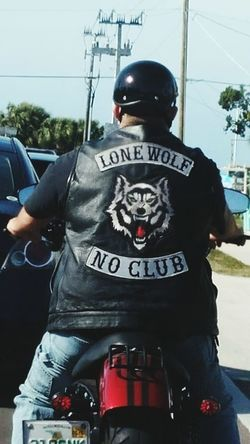 Lone Wolf. Motorcycle Ride Son In Law* Harley-Davidson Lone Wolf No Club Leather Vest Motorcycle Photography