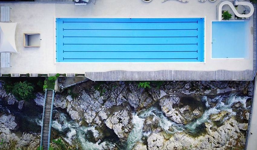 Dronephotography Aerial View Dji DJI Mavic Pro River Swimingpool Built Structure Architecture Day Building Exterior No People Building Nature Outdoors Blue