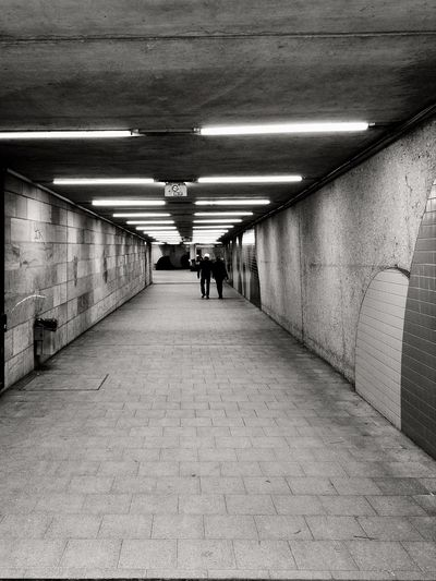 The Way Forward Walking People One Person Subway Light And Shadow Metro Station City Street Life Schwarz & Weiß Blacknwhite Outdoors Lights Nürnberg Monochrome Monochrome Photography