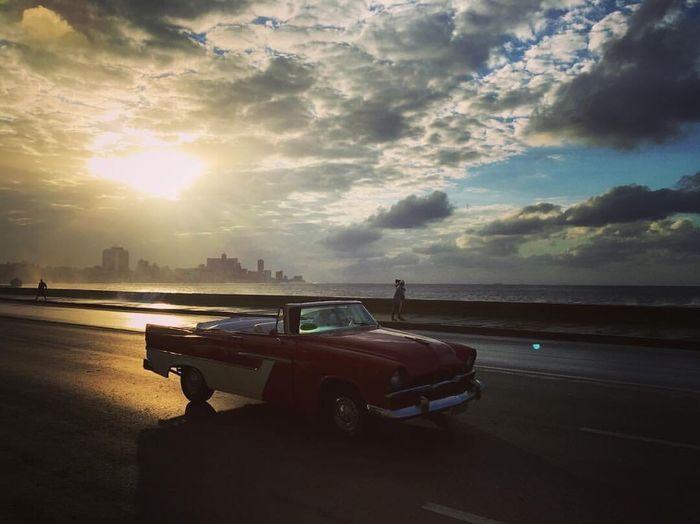 The cars on Cuba. Car Sunset Cuba Havana 50s First Eyeem Photo