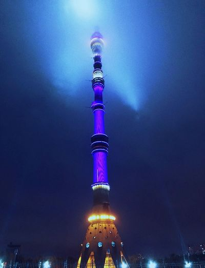 #photography Москва Architecture Illuminated Tower Built Structure Night Tall - High City