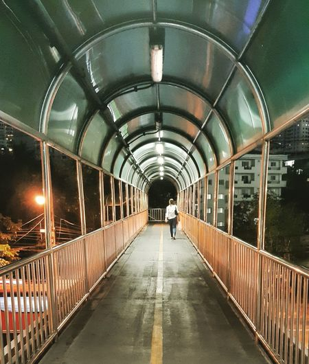 Pedestrian Crossing Pedestrian Bridge Bangkok Mobilephotography Alone In The City  The Way Home City Life