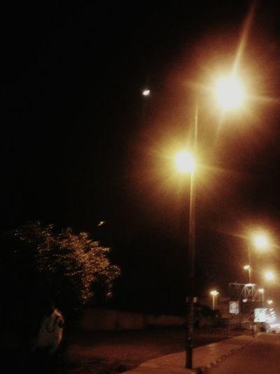 Trafficpolice Streetlights NightStreet