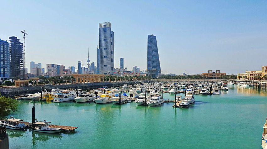 My Year My View Kuwait❤ Kuwait Towers Sea View Boats⛵️ Sky Water Sea Nautical Vessel Scenics Outdoors Architecture Tree Day No People Nature Cityscape Urban Skyline Teamwork