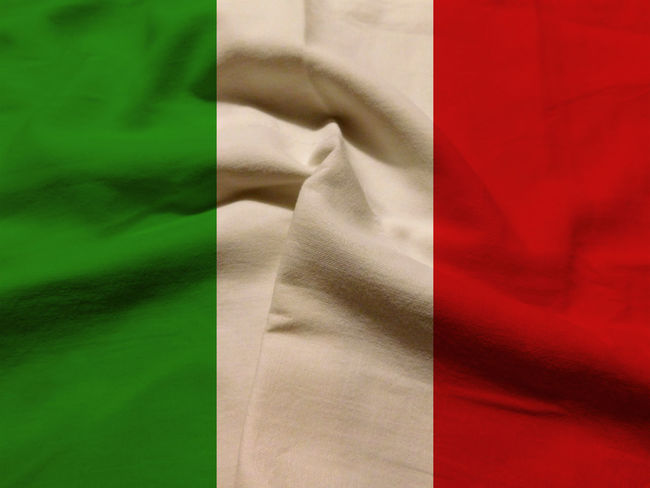 Italian flag Close-up Crumpled Day Fabric Indoors  Italy Italy Flag Nation No People Rome Rome Italy State Textile Textured