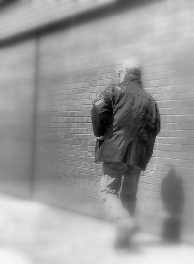 Day Full Length Man Walking From Behind One Person Outdoors People Real People Rear View Walking