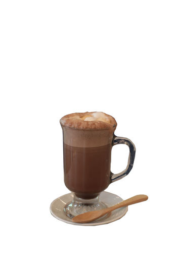 Hot chocolate isolated in glass with wooden spoon on white background Coffee - Drink Coffee White Background Food And Drink Drink Cup Studio Shot Mug Coffee Cup Still Life Refreshment Indoors  Copy Space Cut Out Crockery Hot Drink Brown Food No People Freshness Frothy Drink Temptation Delicious Cream Espresso Milk Morning Cafe Chocolate Coffee Backgrounds Beverage Capuchino Caffeine Foam Latte Mocha Cappuccino Hot Breakfast Shake Wooden Spoon Wooden Refreshment Glass Macchiato Coffee Shop Close Up Creamy Whipping