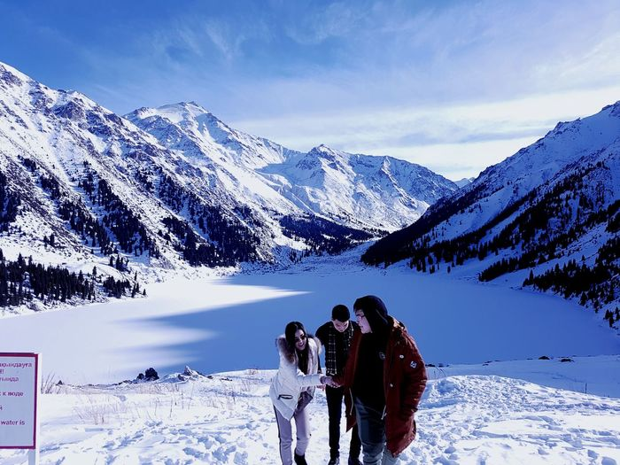 Big Almaty Lake Snowboarding Ski Holiday Mountain Snow Athlete Cold Temperature Winter Adventure Men Warm Clothing