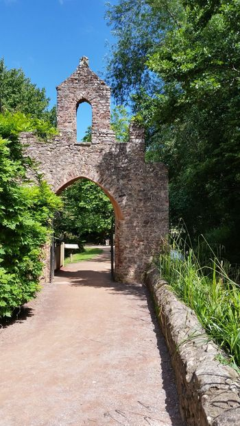 Blue Sky Clear Sky Dunster England Green No People Somerset Stone Wall Uk Watermill