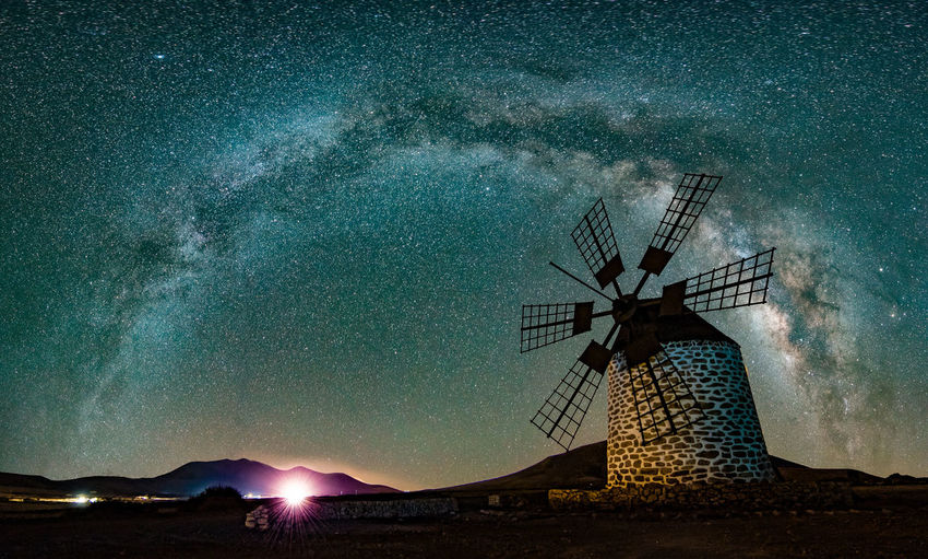 Nightphotography Nikon Panorama Windmill Long Exposure Milky Way Milky Way Arch Night