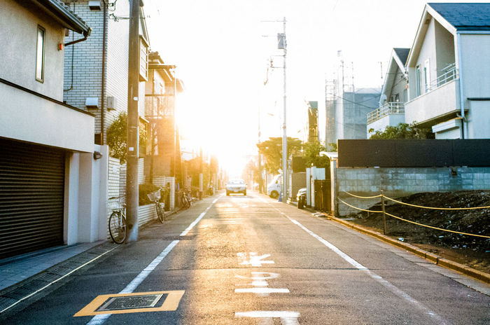 Let the sun lead you to the better place. Autumn Day Bright Colors Japan Leading Lines Tokyo Street Photography Tokyo,Japan Architecture Building Exterior Built Structure City Clear Sky Day Lead My Way Lights And Shadows No People Outdoors Road Road Marking Sky Street Street Photography Sunlight The Way Forward Transportation Be. Ready.